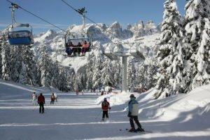 Funivia e piste da sci in Paganella