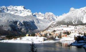 Lago di Molveno in inverno